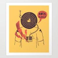 The Vinyl Frontier (alte… Art Print