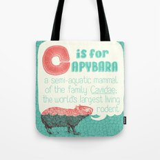 C Is For Capybara Tote Bag
