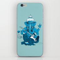 Ganesha Rocks ! (v3) iPhone & iPod Skin