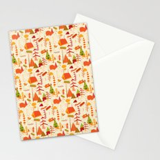 woods pattern Stationery Cards