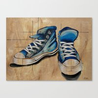 Canvas Print featuring Blue Shoes by James Davis