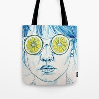 Lemon Lady Tote Bag