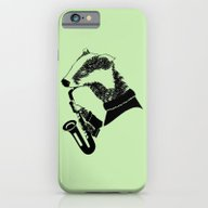 iPhone & iPod Case featuring Badger Saxophone by Mailboxdisco