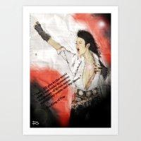 MJ Shamone!  Art Print