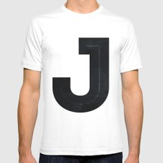 Just J White SMALL Mens Fitted Tee
