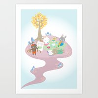 picnic day Art Print