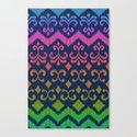 Ikat Rhythm & Blues Canvas Print