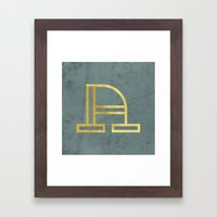 Letter A Day Project - A  Framed Art Print