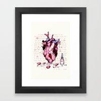 Wild Horses Broken Heart Framed Art Print