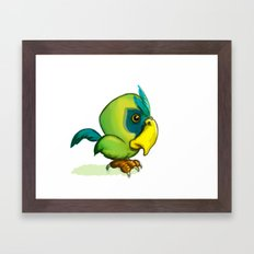 Green Parrot Framed Art Print