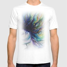 Let go of old dreams White Mens Fitted Tee SMALL