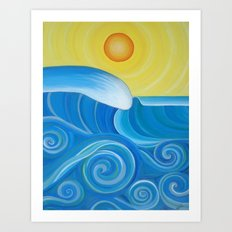 Perfect Surf Art Print