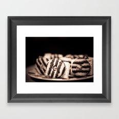 camera treats Framed Art Print