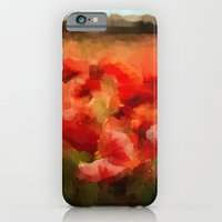 iPhone Cases featuring Poppy Field by Klara Acel