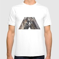 V MTHSN GEO Mens Fitted Tee White SMALL