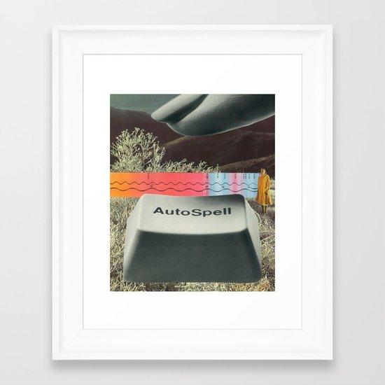autospell Framed Art Print