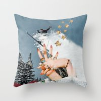Material Hindrances Throw Pillow