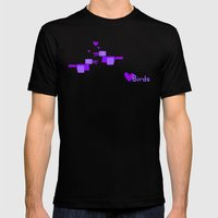 Love Birds-Purple Mens Fitted Tee Black SMALL