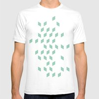 rhombus bomb in grayed jade Mens Fitted Tee White SMALL
