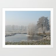 Winter Landscape In NRW Art Print