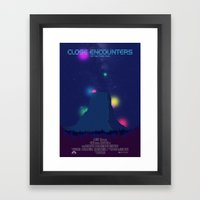 Close Encounters of the Third Kind Framed Art Print