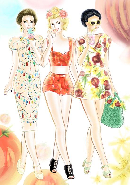 Dolce & Gabbana SS12 Illustration Art Print