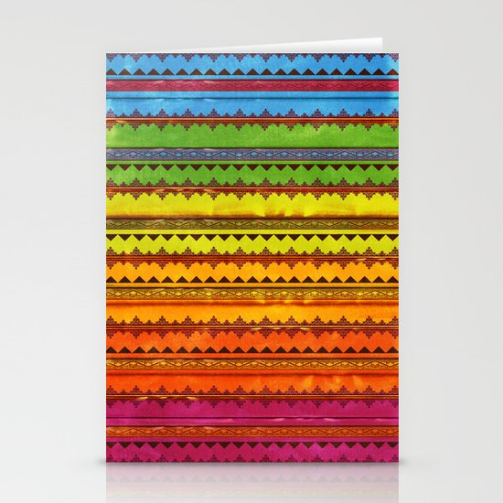 Hippie Style Pattern Stationery Card