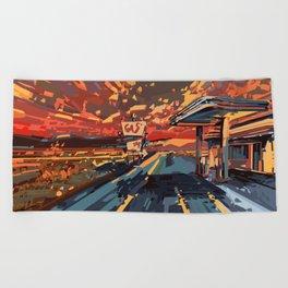 Beach Towel - american landscape 7 - Bekim ART