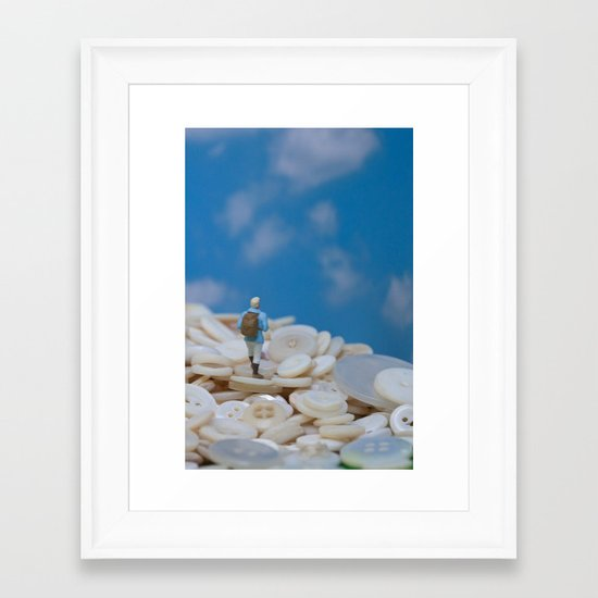 The Great Button Hike Framed Art Print