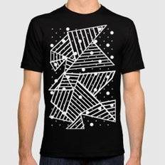 Abstraction Spots Close Up Black Mens Fitted Tee Black SMALL