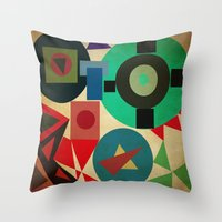 Geometric Mess Throw Pillow
