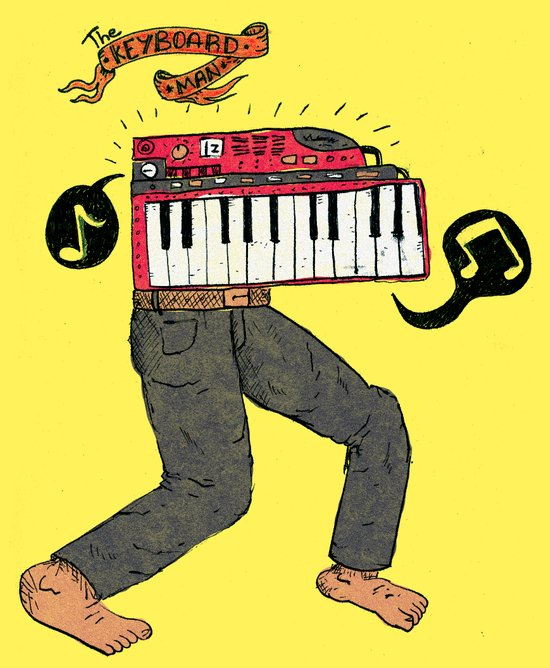 The keyboard man Art Print