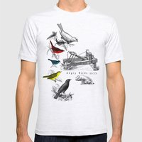 Etude - Angry Birds Mens Fitted Tee Ash Grey SMALL