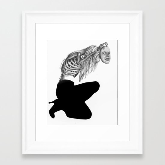 when masks fall Framed Art Print