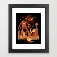 Framed Art Print featuring Armageddon by Fuacka