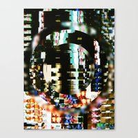 The Interference Canvas Print