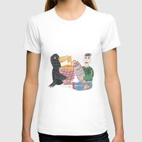 Lamen Bird. Womens Fitted Tee White SMALL