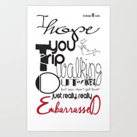 Tripping - Backhanded Insults Art Print