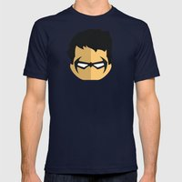 Nightwing Mens Fitted Tee Navy SMALL