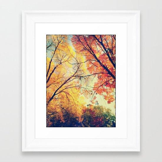 Autumn Embrace Framed Art Print