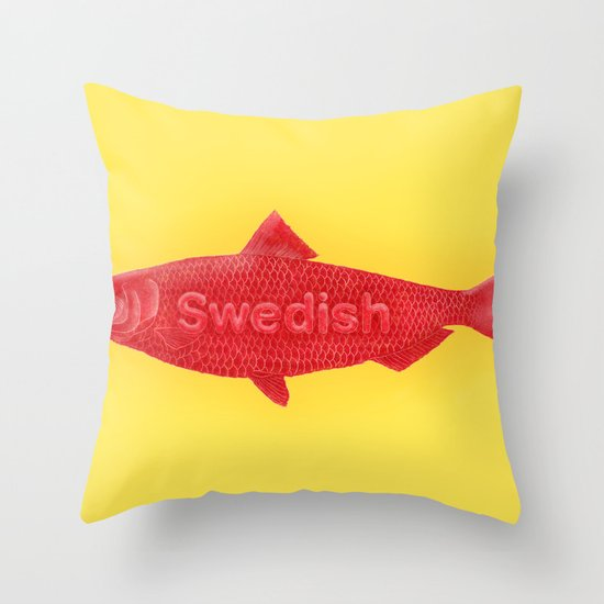 Swedish fish throw pillow by chase kunz society6 for Fish throw pillows