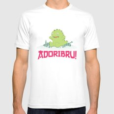 Adoribru! Mens Fitted Tee SMALL White