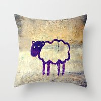 Just A Sheep Throw Pillow