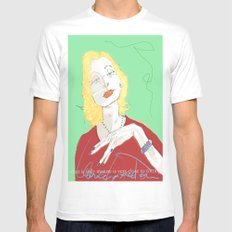 Clarice Lispector SMALL White Mens Fitted Tee