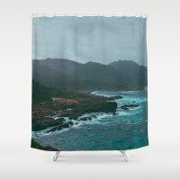 Big Sur Rocky Shore Shower Curtain