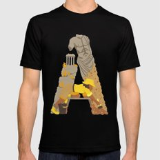 A as Archaeologist Mens Fitted Tee Black SMALL