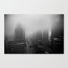 Fog Over Chicago Canvas Print