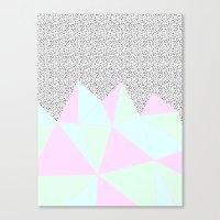 Pastel Cuts + Intricate … Canvas Print