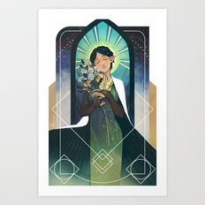 Lady Daisy Art Print