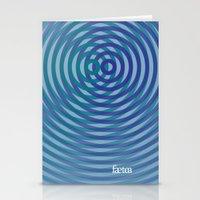 SoundWaves Teal/Indigo Stationery Cards